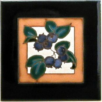 Blueberries Ceramic Tile design - Maanum Custom Tiles