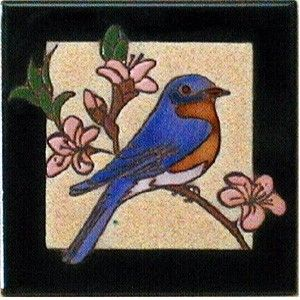 Bluebird Ceramic Tile - 4 x 4 by Maanum