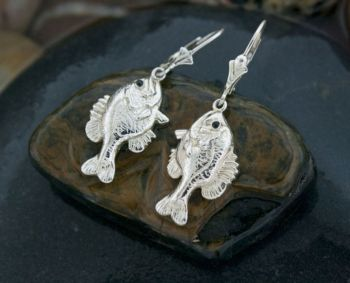 Bluegill/Sunfish Dangle Earrings by Tight Lines Jewerly