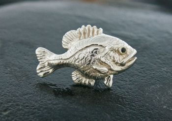 Bluegill/Sunfish sterling silver lapel pin - tie tack by Tight Lines Jewelry