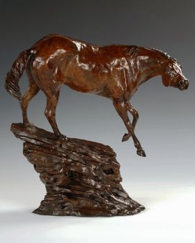 Boss Mare is a bronze sculpture of a horse by Liz Lewis