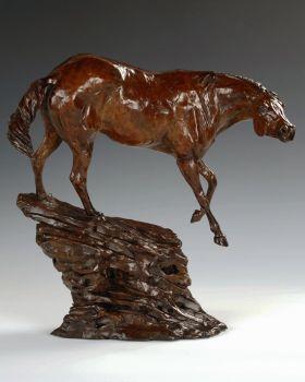 Boss Mare bronze sculpture by Liz Lewis