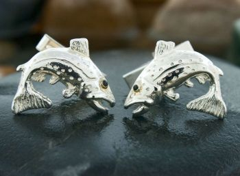 Brown Trout Cufflinks by Tight Lines Jewelry