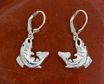 Brown trout Small Dangle Earrings by Tight Lines Jewelry