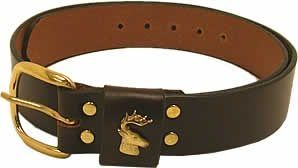 "1 1/2"" wide Buck Head Belt by Royden Leather Belts"