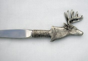 Buck Head Pewter Letter Opener by Sid Bell Originals