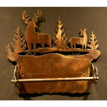Buck rustic metal paper towel holder by Steel Appeal