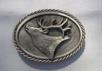 Elk Head Pewter Buckle - Sid Bell Originals