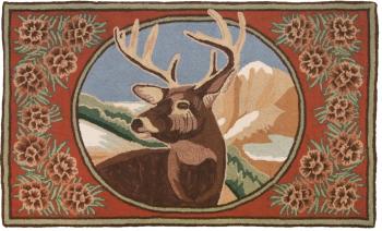 Bucks and Pinecones Wool Rug by Michaelian Home