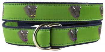 Buffalo in Bow Ties D Ring Belt by Belted Cow