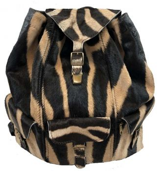 Burchell Zebra & Cape Buffalo Hide Backpack