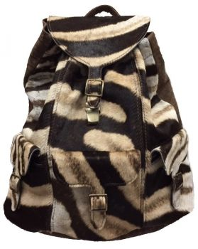 Burchell Zebra & Cape Buffalo Hide Expedition Backpack