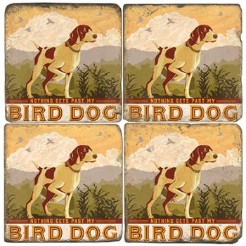 Bird Dog Italian Marble Coasters