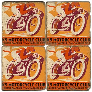 K9 Motorcycle Club Italian Marble Coasters and Accessories