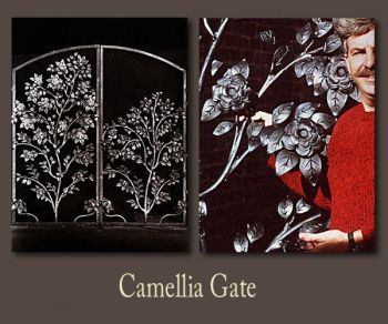 Camellia Metal Gate by John Boyd Smith