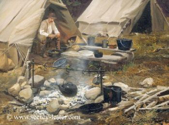 Camp Cook Giclee Print by John Seerey-Lester