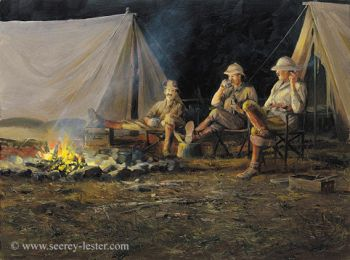 Campfire Cohorts Giclee print by John Seerey-Lester