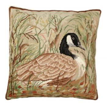 Canada Goose Needlepoint Pillow by Michaelian Home