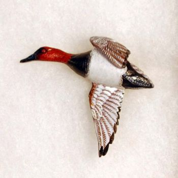 Canvasback Hand-Carved Wood Pin by Dick Cook