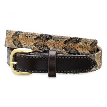 Canebreak Rattlesnake Skin Belts by Bull and Briar