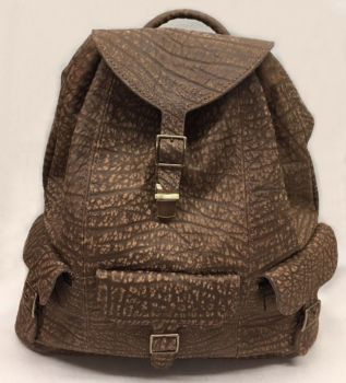 Cape Buffalo Hide Expedition Backpack - Front - 2
