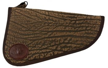 Cape Buffalo Hide Handgun Case - Brown - Front