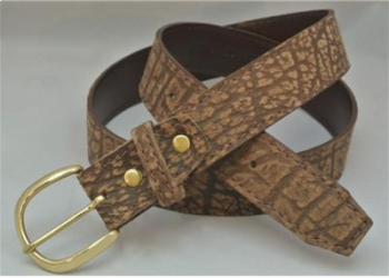 Cape Buffalo Hide Mens Belt