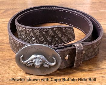 Sid Bell Cape Buffalo buckle and Cape Buffalo hide belt