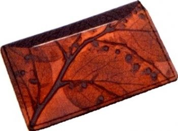 Leaf Leather Card Case