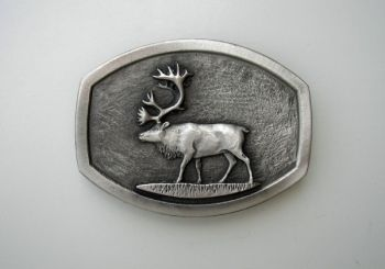 Caribou Pewter Buckle by Sid bell Originals