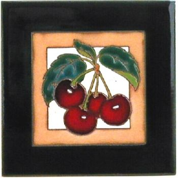 Cherries Ceramic Tile - Maanum Custom Tiles