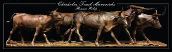 Chisolm Trail Mavericks Cattle Bronze Sculpture