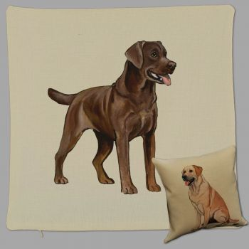 Chocolate Lab Retriever Print Pillow by Zeppa Studios