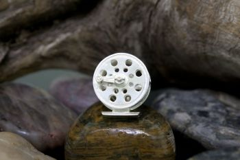 Classic Fly Reel Sterling Silver Tie Tack by Tight Lines Jewelry