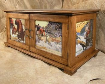 Vintage Artwork Coffee Table- Bruce Mrachek