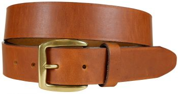 Cognac Baxter leather Belt by Belted Cow