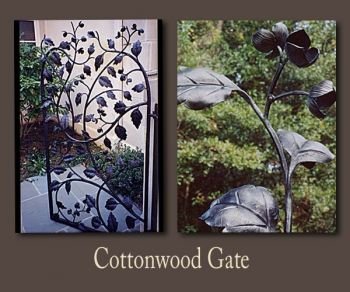 Cottonwood Metal Gate by John Boyd Smith