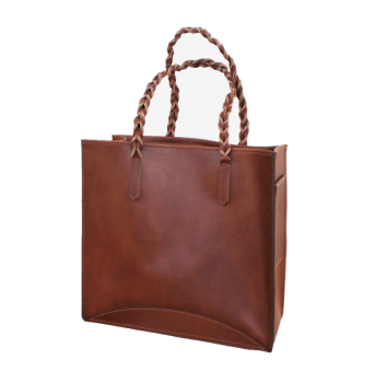 Coyote Ultimate Tote with Braided Handle Front View