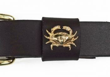 "1 1/4"" wide Crab Leather belt by Royden Leather Belts"