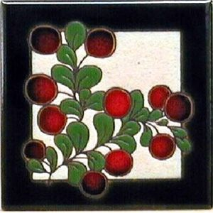 Cranberries Ceramic 4 x 4 Tile by Jeanne Maanum