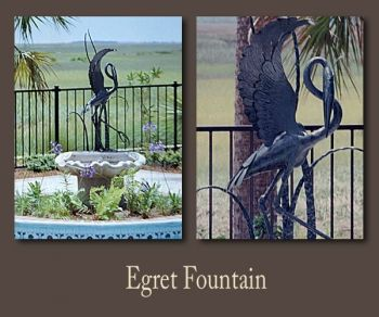 Custom Architectural ironwork fountains by John Boyd Smith