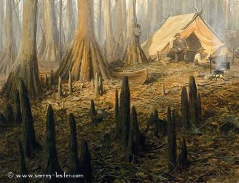 Cypress Camp Giclee by John Seerey-Lester