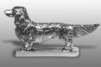 Dachshund - Long Haired - Hood Ornament or Car Mascot by Louis Lejeune comes in chrome, bronze, enamel or gold plated