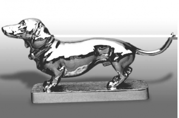 Dachshund - Smooth Haired - Hood Ornament or Car Mascot by Louis Lejeune comes in chrome, bronze, enamel or gold plated