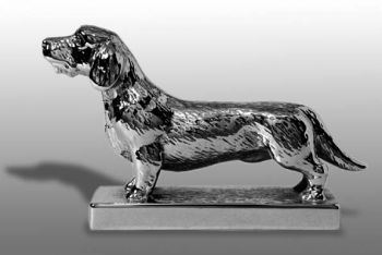 Dachshund - Wire Haired - Hood Ornament or Car Mascot by Louis Lejeune comes in chrome, bronze, enamel or gold plated