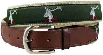 Dapper Stag Leather Tab Belt by Belted Cow