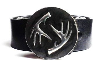 Deer Shed Antler Buckle Hand Embossed - Tyger Forge
