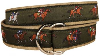 Belted Cow Derby D Ring Signature Ribbon Belt