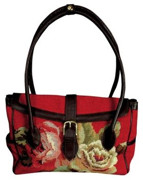 Diagonal Flowers Handbag by Michaelian Home