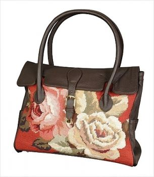 Diagonal Flowers Tote by Michaelian Home